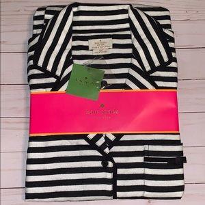 NWT Kate Spade black and white Pajamas Set